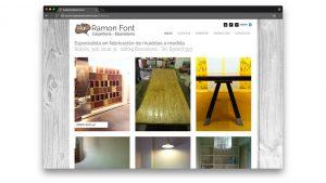 Diseño web fusteria Ramon Font Barcelona