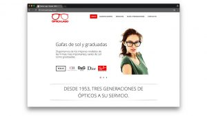 Diseño web óptica Lago Barcelona