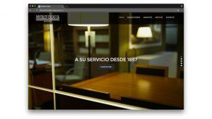 Diseño web muebles Casas de Barcelona