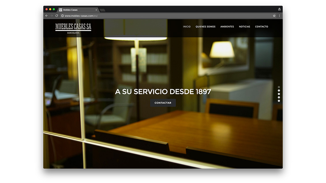 Dise o web muebles casas en barcelona agencia effortsl net for Web de muebles