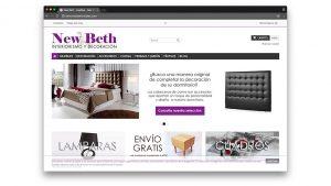 Diseño tienda online de muebles Newbeth Barcelona