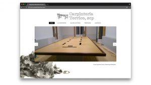 Diseño web carpintería de madera Torrico en Barcelona