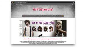 Diseño web peluquería Anna Pavia Barcelona