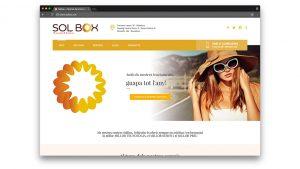 Diseño web centro bronceado SolboxDiseño web centro bronceado Solbox