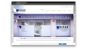 Diseño web clínica dental Bizar en Sabadell