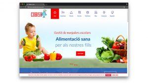 Diseño web comedor escolar cobisa