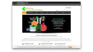Diseño web farmacia Pararols de Barcelona