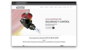 Diseño web industrial Cepex Industrial