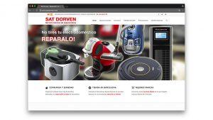 Diseño web servicio técnico Sat Dorven Barcelona