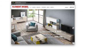 Diseño web tienda de muebles Element Mobel Barcelona