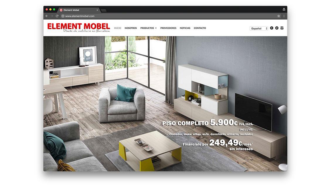 dise o web tienda de muebles barcelona element mobel