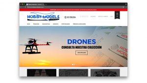 Diseño web tienda modelismo Hobby Models